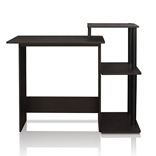 Furinno 11192EX BK Efficient Computer Desk Espresso Black