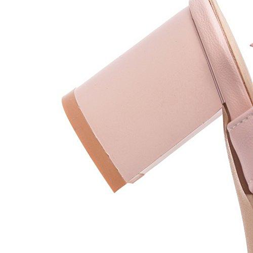 AdeeSu Womens Solid Charms Dress Urethane Sandals SLC04037 Pink 1ejl6K