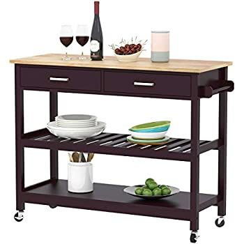 outdoor kitchen cart stainless steel clevr rolling kitchen cart island on wheels trolley cabinet wdrawer shelves storage shelf 100 natural rubberwood top walnut colored amazoncom crosley furniture portable with