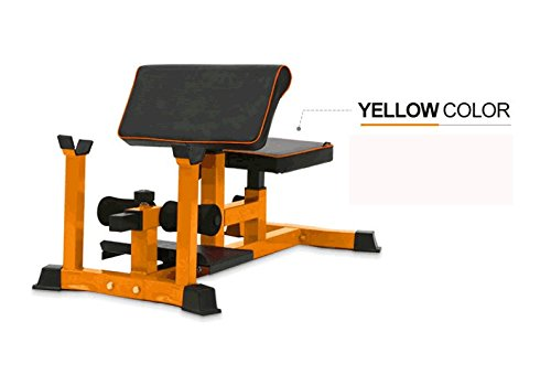Cheap NBpower Sissy Squat Machine Bench Multifunctional-Vertical Squat Sit-up Crunch Biceps Curl Bench Abdominal Muscle Training Abs Workout Home Gym Squat Stand Machine-Yellow(Barbell not included)