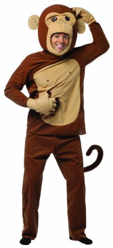 Rasta Imposta Monkeying Around Costume, Brown, One (Mens Monkey Costume)