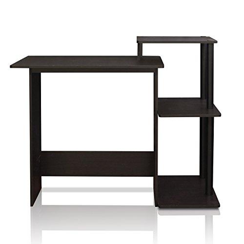 bk efficient computer desk espresso black small spaces laptops furniture