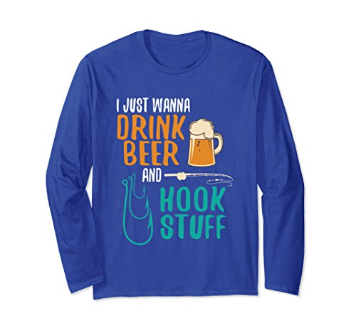 Unisex Funny Fishing Beer Lovers T-Shirt Fishermen Fish Gifts Dad Small Royal Blue