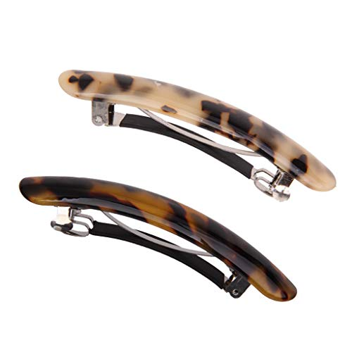 - 2pcs High Quanlity Leopard Women Girls Plastic Hair Clips Pins Accessories