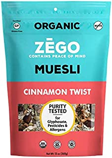 product image for ZEGO Foods Organic, Superfood Oatmeal & Muesli, Certified Gluten Free (Cinnamon Twist) 13oz