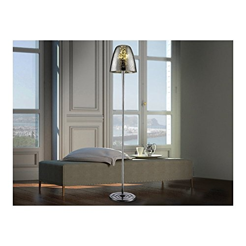 Schuller Spain 436786I4L Modern Chrome Dome Shade Floor Lamp 3 Light Living Room, bed room, Study, Bedroom LED, Gold Floor lamp with shade | ideas4lighting by Schuller