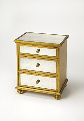 - Butler Specialty Company 3519332 Grable Leaf Accent Chest, Gold