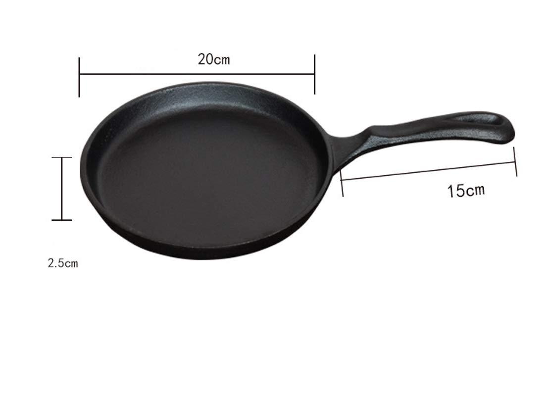 Sartenes de hierro fundido con mango Steak Pan sarten grill antiadherente 20 cm: Amazon.es: Hogar