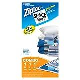 ziploc bags vacuum storage - Space Bag #BRS-6239 Vacuum Seal Clear Storage Bags, Set of 3 (Medium, Large, Extra Large)