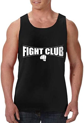 Fight Club メンズ フロントプリント袖なしク シャツ 速い乾燥 ジム トレーニング用
