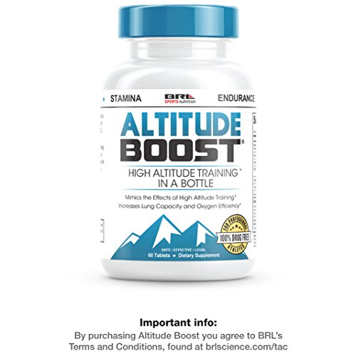 "ALTITUDE BOOST – #1 Endurance Supplement – ""Mimics the Effects of High Altitude Training"" – Increases Lung Capacity and Oxygen Efficiency,60 tablets"