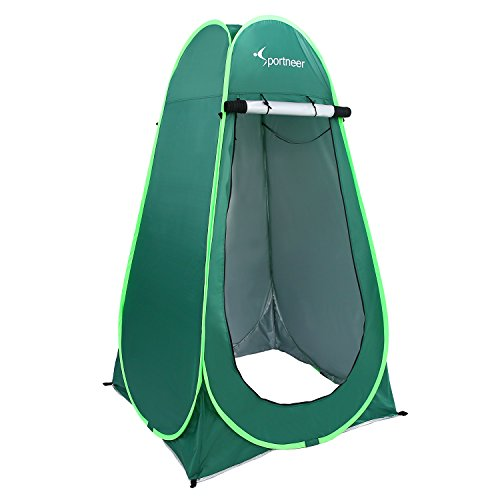 Sportneer 6.25' Portable Pop Up Changing Dressing Room Tent W/Carrying Bag for Camping Photo Shoot, Green ()