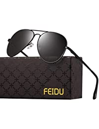 Polarized Sunglasses Aviator Sunglasses for Men - FEIDU...
