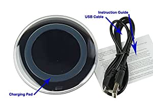 Wireless Charger, Qi Wireless Charging Pad for Galaxy S7,Galaxy S7 edge, Galaxy S6,Note 5 ,S6 Edge+,S6 Edge, Nexus 4/5/6 and All Qi-Enabled Devices (Black)