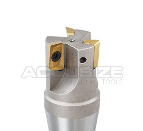 Accusize - 1-1/4'' x 5-27/32'' 90 Degree R8 Shank Indexable End Mills with 3 APKT1604 Carbide Inserts, 0028-6904 by Accusize Industrial Tools (Image #4)