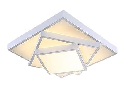 Style home 30W LED Deckenleuchte Deckenlampe Voll dimmbar mit Fernbedienung  für Wohnzimmer Schlafzimmer Kinderzimmer Küche Quadratisch 6906F (Weiß)