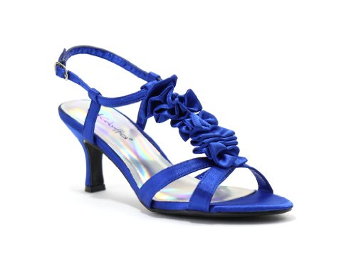Coloriffics Metallic Sandals - Coloriffics Women's Giselle Sandal,Blue,7 M US
