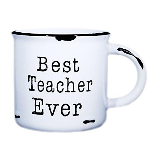 Best Teacher Coffee Mug | Tea Mug | 15 oz Ceramic Campfire Mug | Gift For Teacher - End Of Year - Teacher Appreciation ()