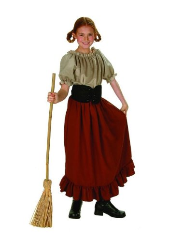 [Child's Renaissance Peasant Girl Halloween Costume (Size: Large 12-14)] (Halloween Costumes For Girl Kids)