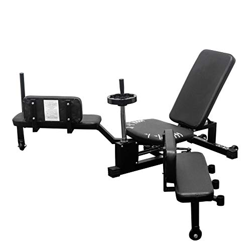 Valor Fitness CA-30 Leg Stretch Machine with Adjustable Grip Handle, Wheel Crank, and Adjustable Back Pad