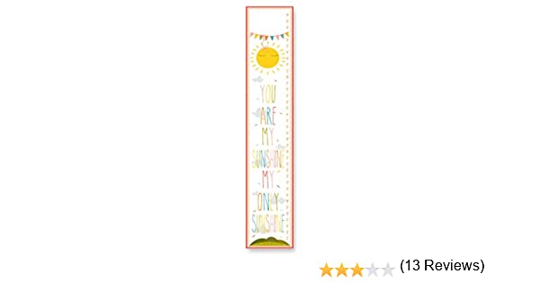 The Kids Room by Stupell You Are My Sunshine Growth Chart 7 x 0.5 x 39 Proudly Made in USA GFC-464