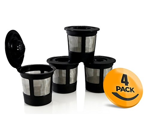 4-Pack Reusable K-Cups with Freedom Clip for Keurig 1.0