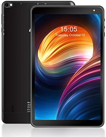 Tablet 10.1 inch Android Tablet AWOW, 1.5GHz Quad Core, 2GB RAM, 16GB ROM, 1280 x 800 HD IPS, 3MP & 2MP Camera, Android 10, 2.4G WiFi, Bluetooth 4.0, USB2.0, 5000mAh Battery Capacity, Black