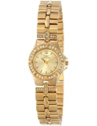 Women's 0134 Wildflower Collection 18k Gold-Plated Crystal Accented Watch