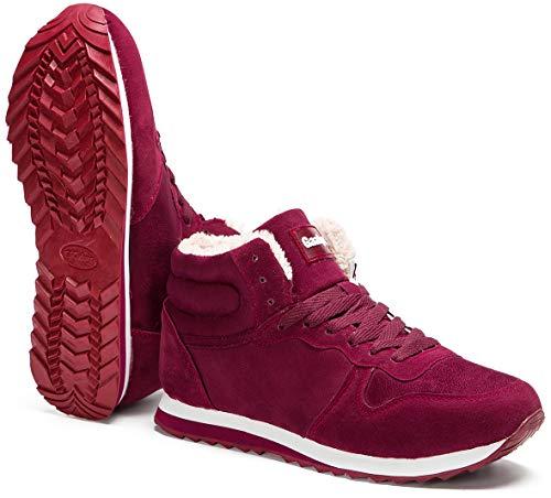 Bottines Bottes Mixte Avec Rouge Chaussures Chaude Doublure Courtes Mode Hiver Neige Gaatpot Fourrées De Adulte ZCYxBBwa