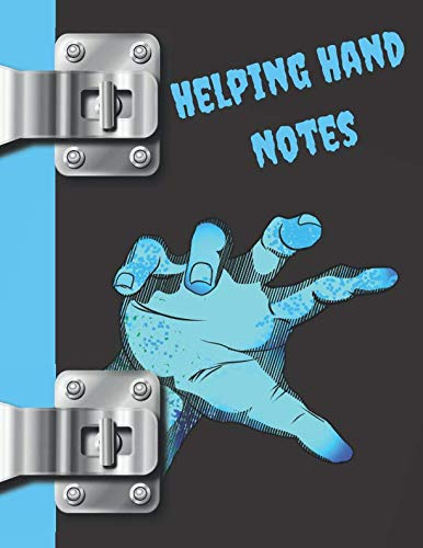 Helping Hand Notes: Zombie College Ruled Composition Writing Notebook -