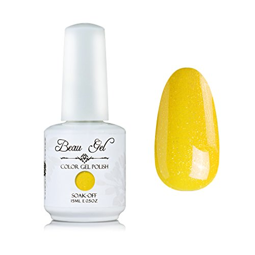 Beau Gel UV LED Soak Off Nail Gel Polish Bling Color Nail Ar