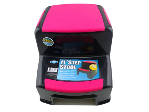 Kennedys Home Collection 11″ Step Stool 280 LB Capacity (Pink)