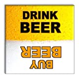 Clean Dirty Dishwasher Magnet - Funny Gag Gift Idea for Beer Drinking Game - Novelty Item