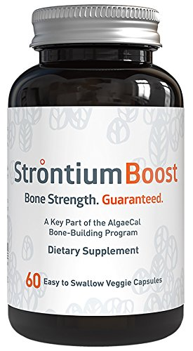 Natural Strontium Citrate Supplement - Strontium Boost (60 Capsules) - All-Natural Ingredients and Scientifically Proven To Support Bone Density Improvement - Easy To Swallow Veggie Capsules