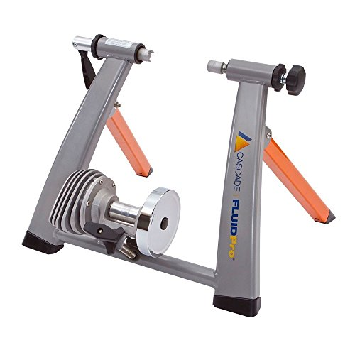 Cascade Health & Fitness Fluidpro Bike Trainer, Orange/Silver by Cascade Health & Fitness