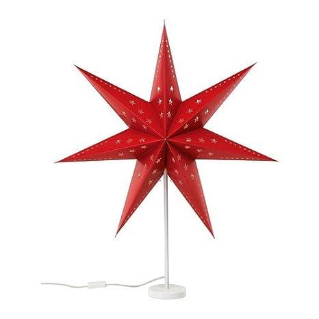 Stella Di Natale Luce.Lampada Da Tavolo A Forma Di Stella Di Ikea Rosso Strala Altezza