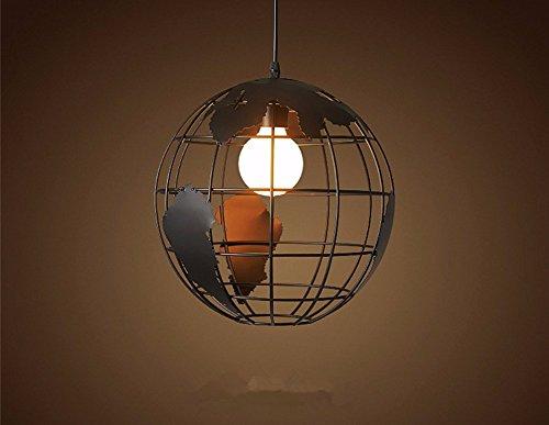 Skgyr loft lampada sospensione nordic industria moderna retrò nero