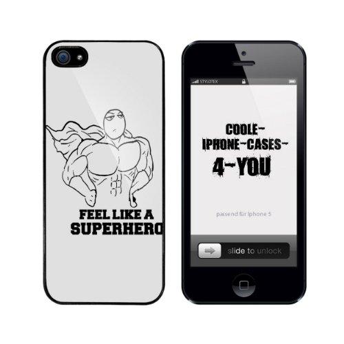 Iphone 5 / 5S Schutzhülle Feel like a Superhero - schwarzer Rahmen