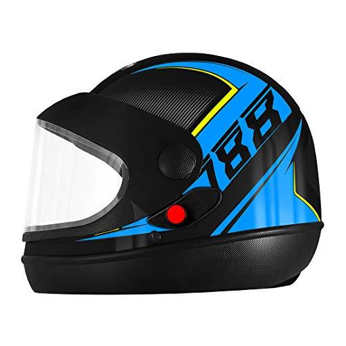 Pro Tork Capacete Super Sport Moto 2019 Fosco 56 Preto/Azul