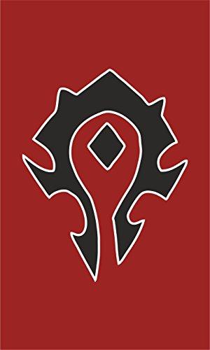 Warcraft Flag | Horde Portrait | 3x5 Ft / 90x150 cm | Large Long Lasting Flag (Warcraft Of Banner World)