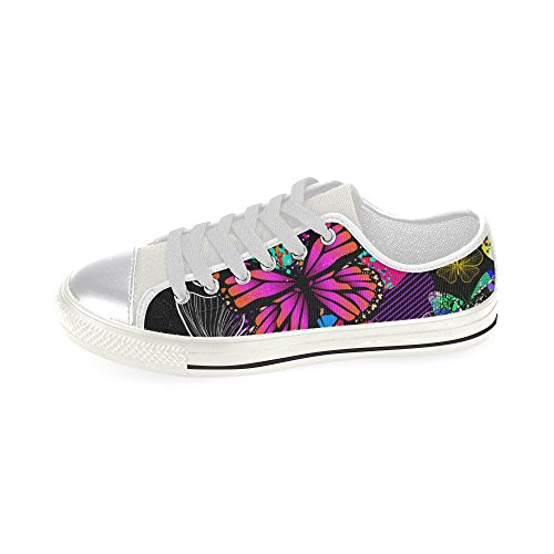 D-histoire Personnalisé Papillons Sans Couture Multicolore Femmes Classique Toile Chaussures Mode Sneaker