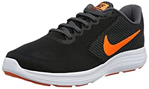 Nike Men's Revolution 3 Running Shoe, Black/Total Orange/Dark Grey, 13 M US
