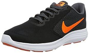 Nike Men's Revolution 3 Running Shoe, Black/Total Orange/Dark Grey/Turf Orange, 7 M US