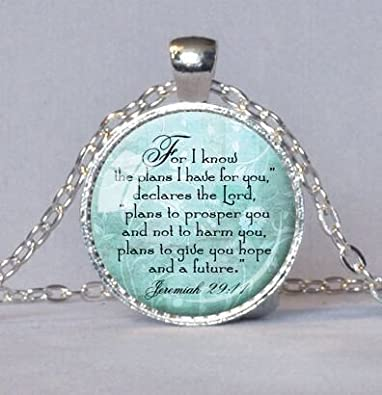 Amazon jeremiah 2911 christian pendant scripture jewelry jeremiah 2911 christian pendant scripture jewelry christian gift for christian bible verse necklace spiritual negle Image collections
