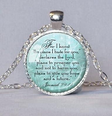 Amazon jeremiah 2911 christian pendant scripture jewelry jeremiah 2911 christian pendant scripture jewelry christian gift for christian bible verse necklace spiritual negle Gallery