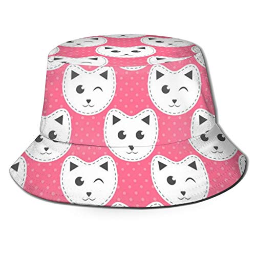 White Cats On Pink Unisex...