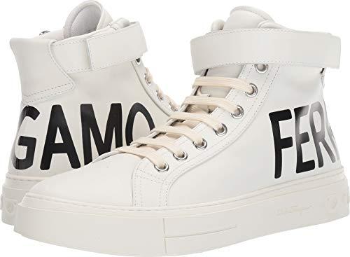 (Salvatore Ferragamo Men's Ayr 2 Sneaker White/Black 11 M US)