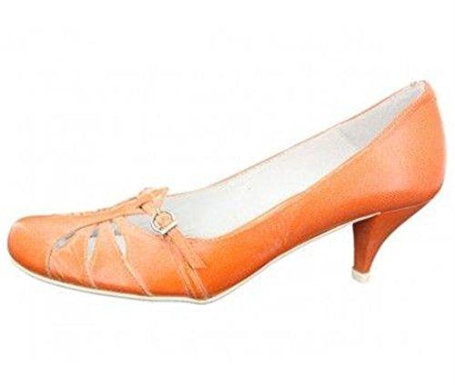 Orange cuir orange Spiral escarpins en femme e33spiral011 x1q0PZfHw