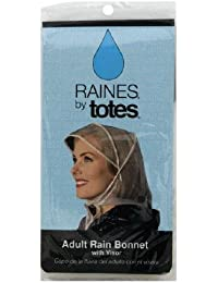 Raines Rain Bonnet With Visor Adult, Colors May Vary