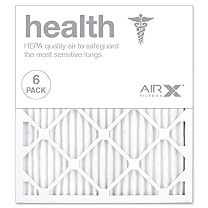 Box of 6 AIRx HEALTH 16x16x1 MERV 13 Pleated Air Filter Made in the USA